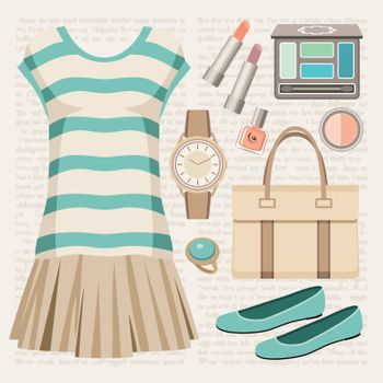Fashion set with a top and a skirt