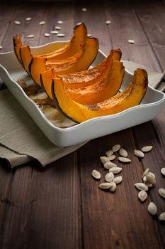 Pumpkin slice baked