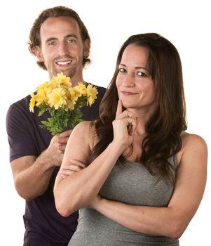 Caucasian Couple Expressing Forgiveness
