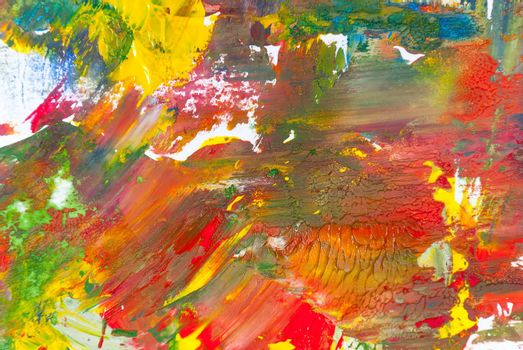 Abstract gouache paints colorful background