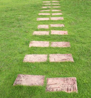 Brown stone pathway