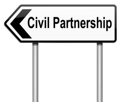 Civil Partnership concept.