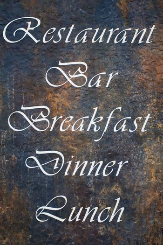 Announcement message on rusty metal restaurant bar billboard