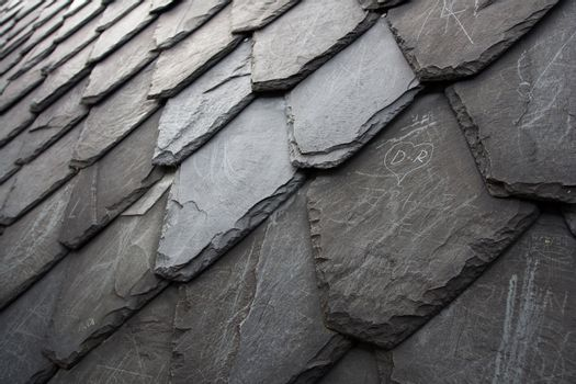 Aged scratched stone tile