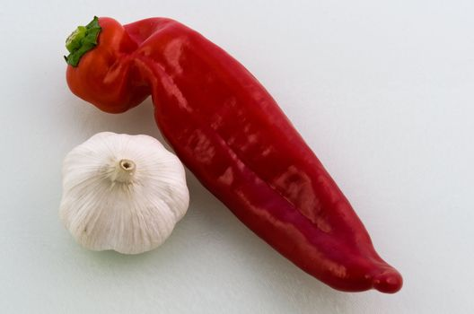 Sweet pointed pepper with garlic