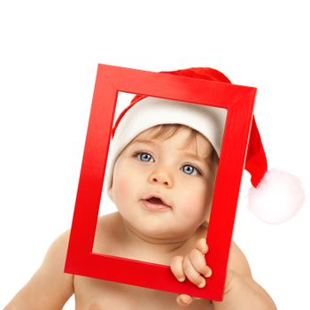 Adorable kid celebrate Christmas