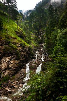 alpine river in Bavaria