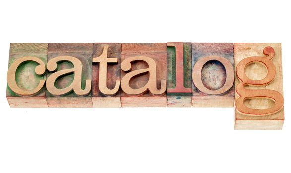 catalog word in wood type