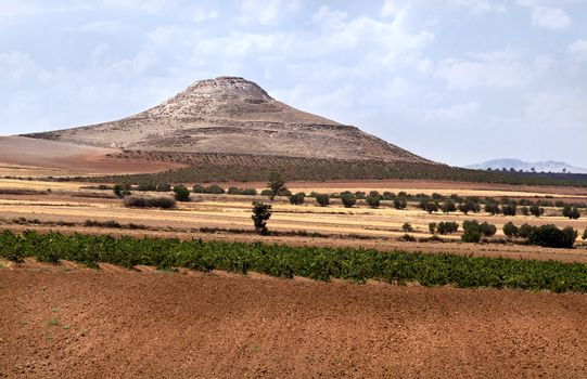 Spanish mountain on Andalusian landscape