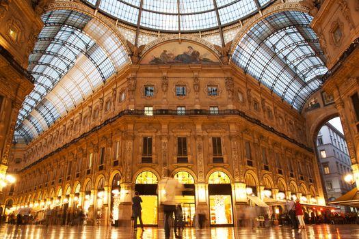 Vittorio Emanuele II Gallery. Milan, Italy