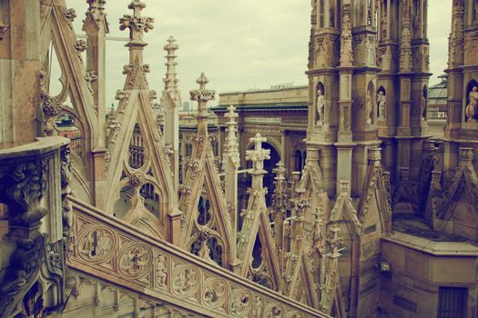 Milan Cathedral, Vittorio Emanuele II Gallery. Italy