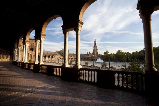 Plaza Espana in Sevilla