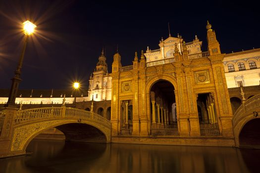 Plaza Espana at night