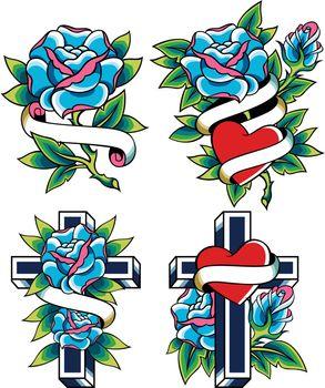 gothic rose tattoo design