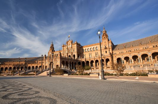 Beautiful Plaza Espana in Sevilla