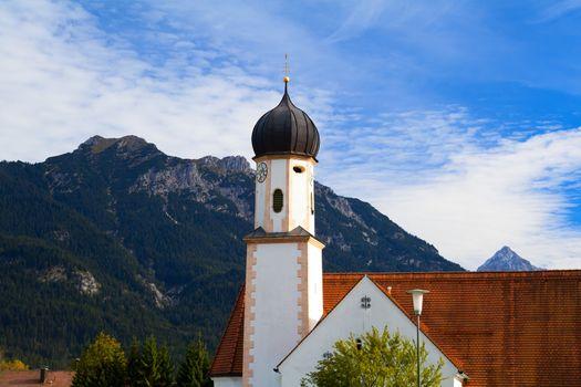 church in Wallgau, Germany