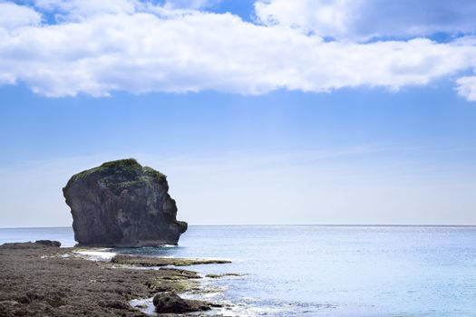 Sail rock in the kenting national park . taiwan