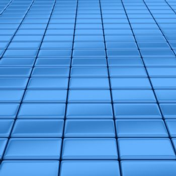Blue bars - abstract 3d background