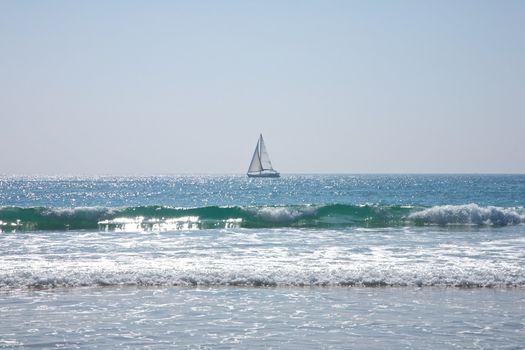 sailing boat at Atlantic