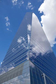skyscraper crystal cloudy