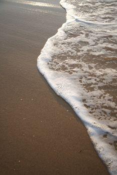 wave over seashore