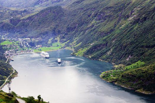 Geiranger Fjord cruise ships