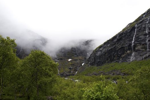 Norway mountains overcast