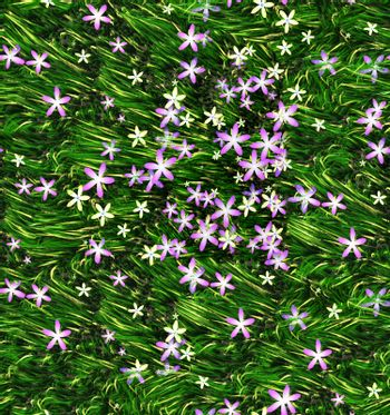 flowers and grass tilling texture for backgrounds