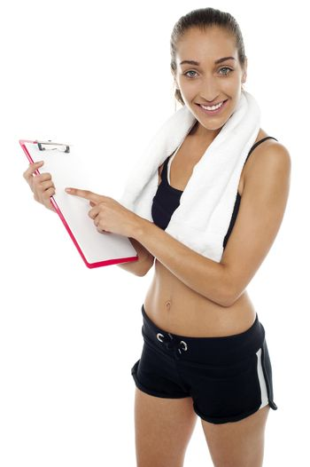 Fitness freak is happy with results on the chart