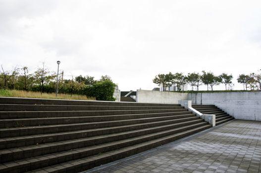 Concrete plaza