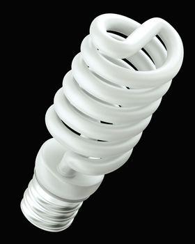 Energy efficient light bulb isolated