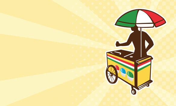 Italian ice push cart vending vendor