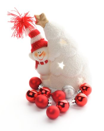 Snowman and Baubles