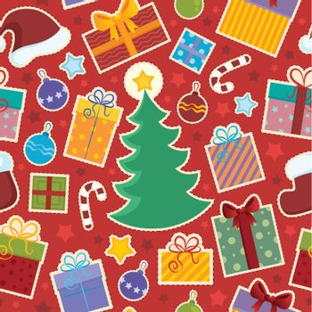 Seamless background Christmas 1 - vector illustration.