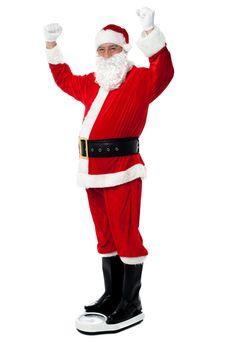Santa sheds precious pounds!