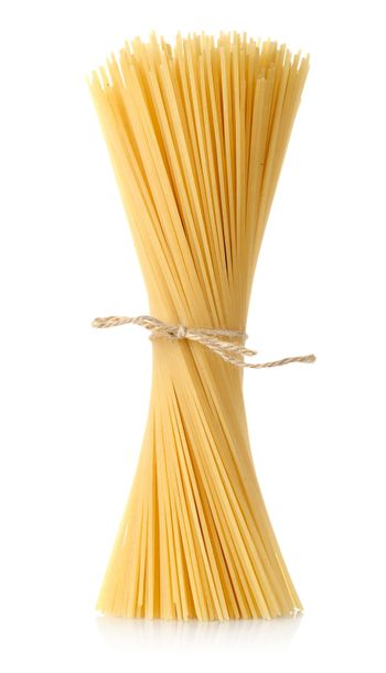 Pasta tied up by a rope