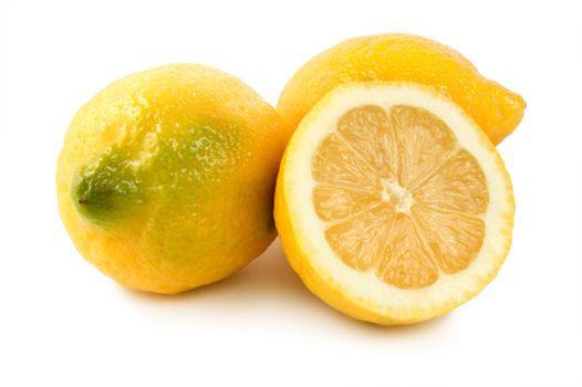 Three ripe lemons