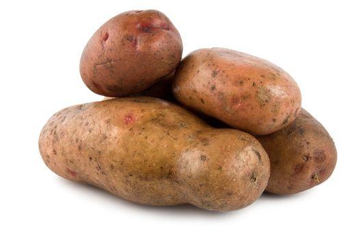 Potatoes isolated