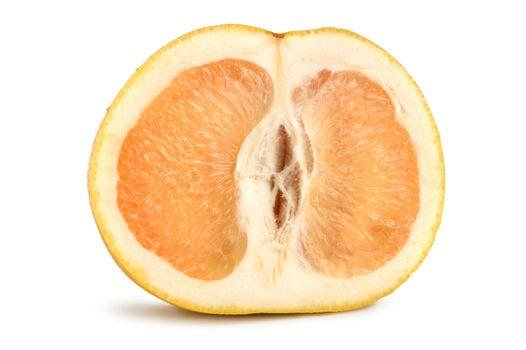 Ripe grapefruit isolated
