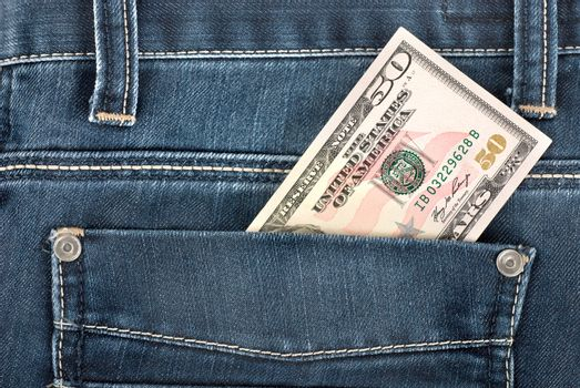 Fifty dollar in pocket