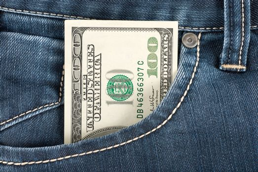 Dollar in front pocket