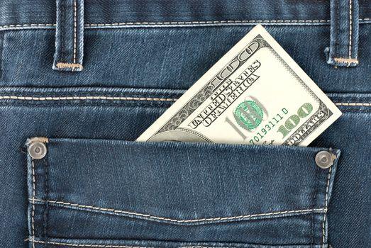Dollar in pocket