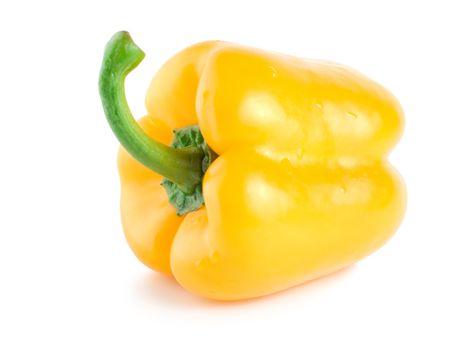 Fresh wet yellow pepper