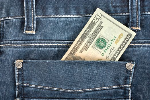 Twenty dollar in pocket