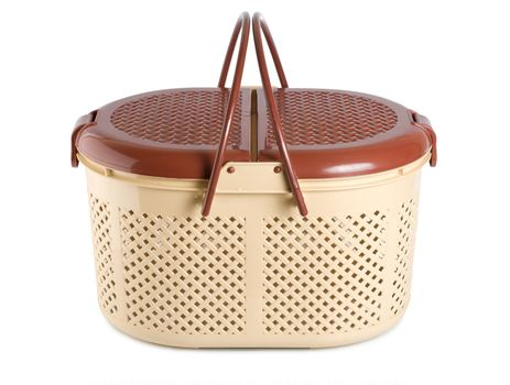 Baskets for animals isolated on a white background