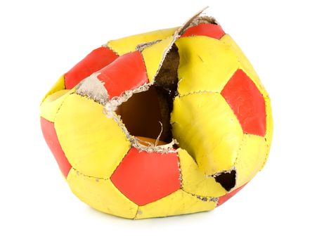 Old ragged soccer