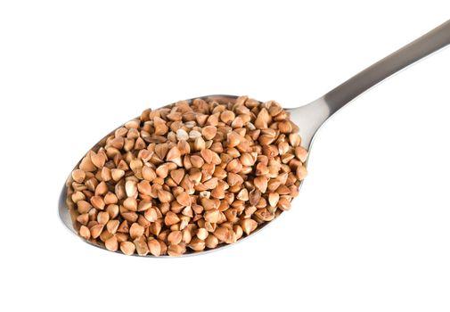 Buckwheat in a spoon