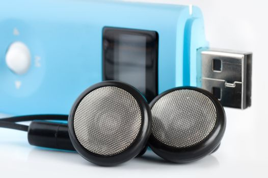 Blue MP3 player