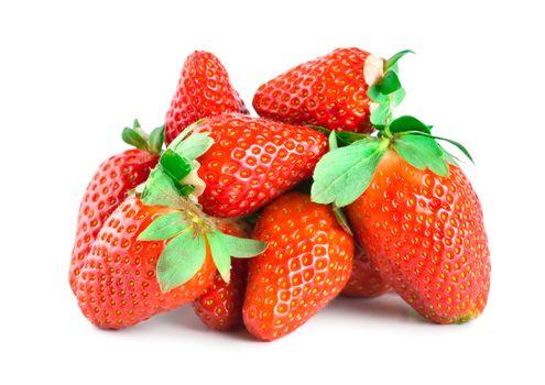 Juicy strawberries isolated