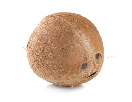 Ripe coconut isolated